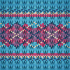 Seamless knitting background pattern