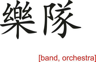 Chinese Sign for band, orchestra