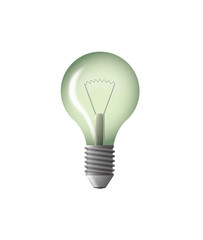 light bulb green vector illustration