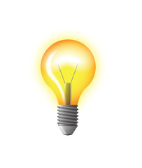 light bulb yellow vector illustration