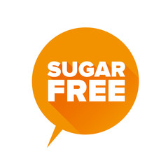 Sugar free Tag, Sticker or Badge For Healthy