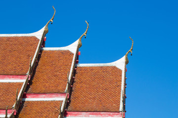 Side roof of thai temple style
