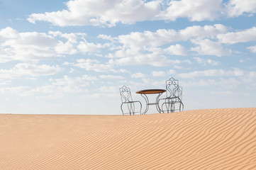 coffee in the desert