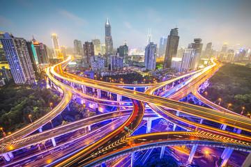 Shanghai, China Elevated Highways