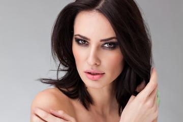 Portrait of a beautiful caucasian woman