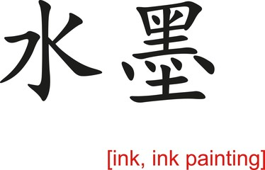 Chinese Sign for ink, ink painting