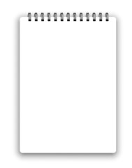 Vertical spiral notepad
