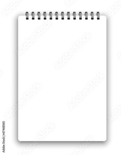 Vertical spiral notepad - 67468065