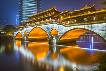Chengdu, China at Anshun Bridge
