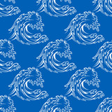 Seamless pattern of a curling waves