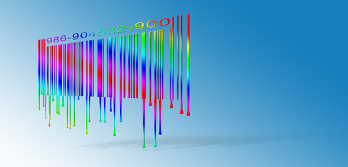 Dripping Rainbow Barcode