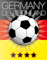 germany 2014 flag and ball