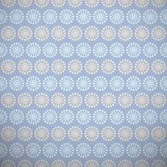 Yoga vector pattern (tiling). Light blue and beige colors