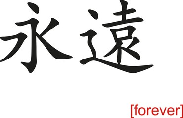 Chinese Sign for forever