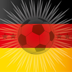 germany flag and ball