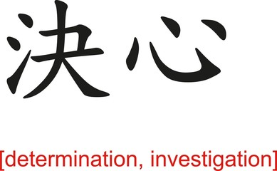 Chinese Sign for determination, investigation