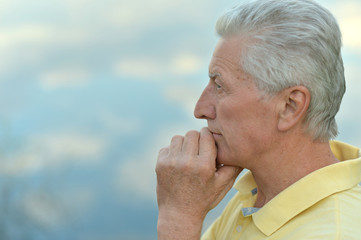 Portrait of thoughtful old man