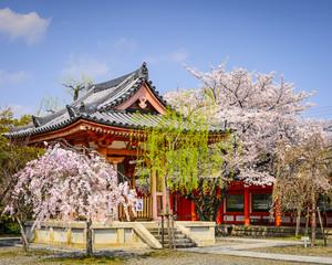 Pavilion at Sanjusangendo Shrine in Kyoto, Japan