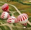 Inflation of a hot air balloon. Turkey.