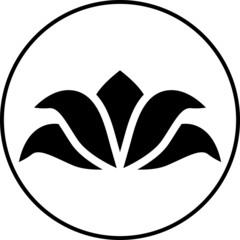Round lotus icon