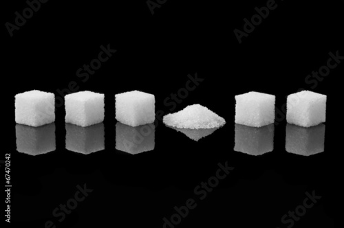 Crashed sugar cube