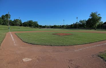 Wide-angle Baseball Field
