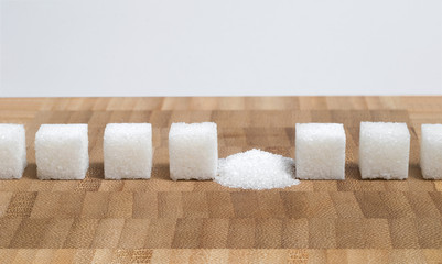 Crashed sugar cube