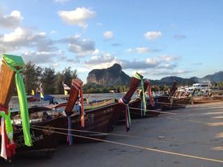 A boat at Aonang Krabi Thailand