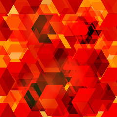 Seamless pattern of 3d cubes.