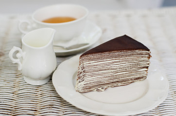 Crape cake with english tea