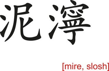 Chinese Sign for mire, slosh