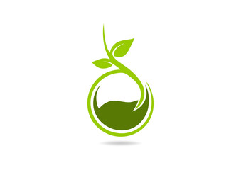 growth green eco plant abstract tree  logo
