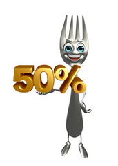 Fork character with Percentage