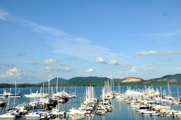 The yacht port, Phuket, Thailand