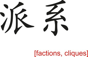 Chinese Sign for factions, cliques