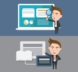 Funny flat character illustration Business series