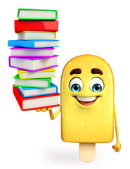 Candy Character With Books pile
