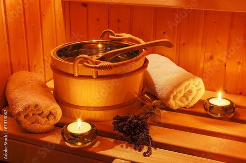 Papiers peints Detente Wellness und Spa in der Sauna