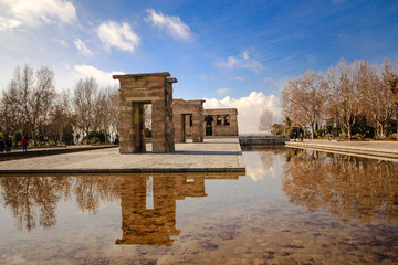 Temple de Debod view from an angle