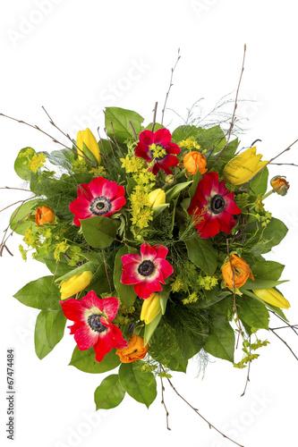 canvas print picture Strauß mit Frühlingsblumen