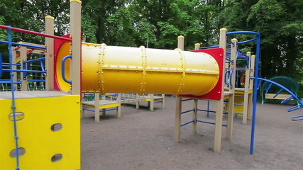 Playground, short obstacle course