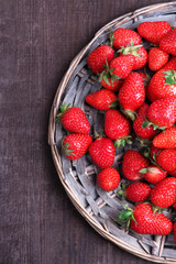 Ripe sweet strawberries