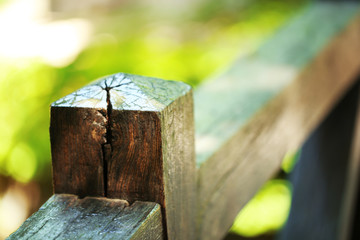 Wood fence in park