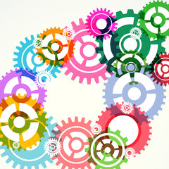 Gear wheels abstract modern background