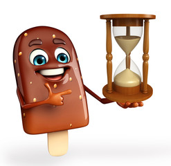 Candy Character With sand clock