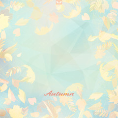 Abstract autumn illustration with maple Leaves.