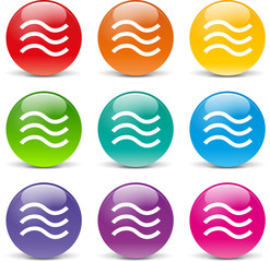 Vector waves icons