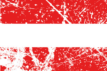 Decayed flag of Austria