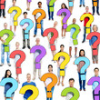 Multi-Ethnic Group of People Holding Question Mark