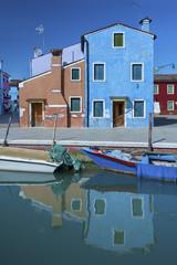 Residential in Burano island, Venice, Italy.